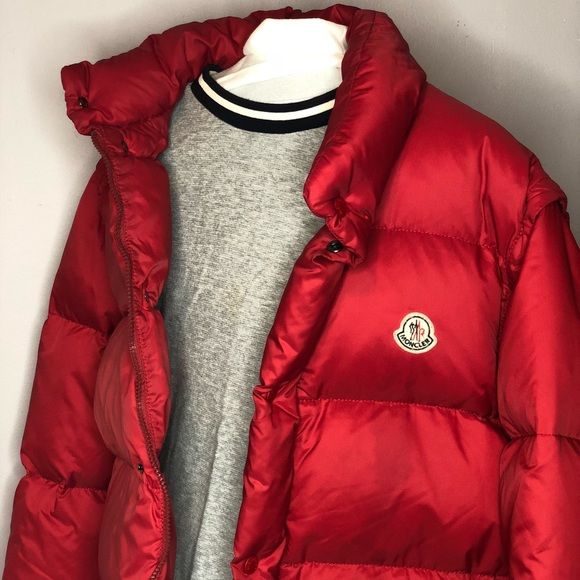 Moncler Men's Bubble Coat/Vest Red Size 3